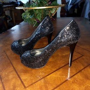 Guess Glitter Platform Heels Size 8